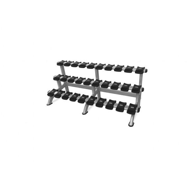 цена Стойка для 15 пар гантелей Nautilus Benches and Racks