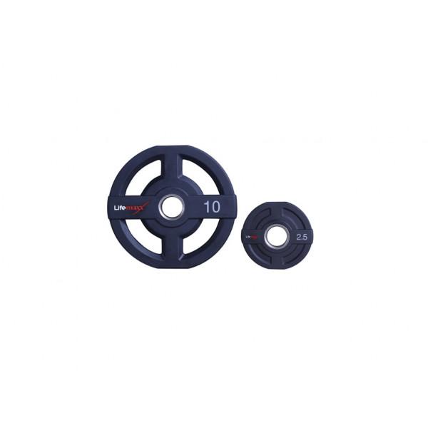 цена Диски олимпийские с полиуретановым покрытием от 1,25 кг до 25 кг Lifemaxx LMX73