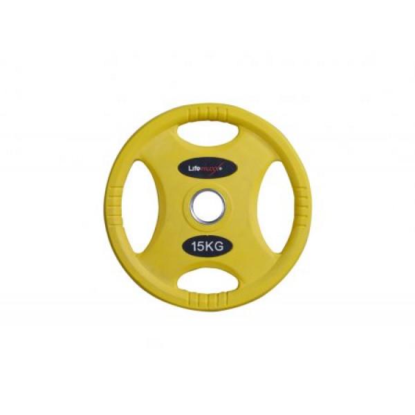 цена Олимпийские прорезиненные диски Lifemaxx LMX86C от 1,25 до 25 кг