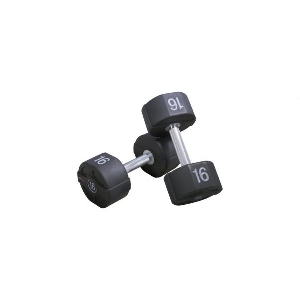 цена Гантели уретановые Lifemaxx PU от 1 до 60 кг, пара