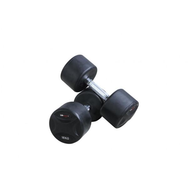 цена Прорезиненные гантели Lifemaxx LMX79 от 1 до 60 кг